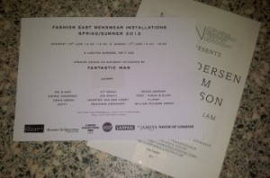 London Collections: Men Show Invites