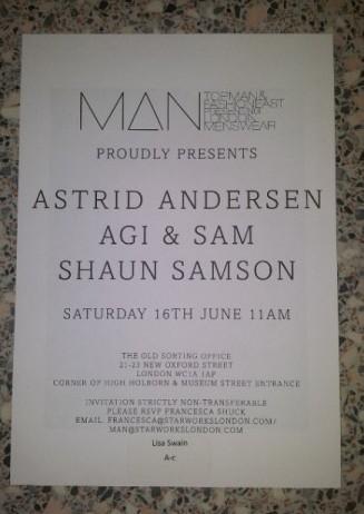 Topman & Fashion East MAN show 16th June 2012 invite