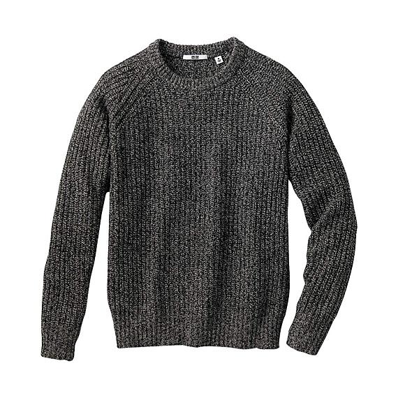 Men Heavy Gauge Crew Neck Sweater