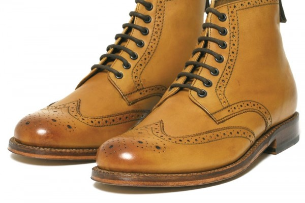 Grenson Sharp Derby Boot Tan