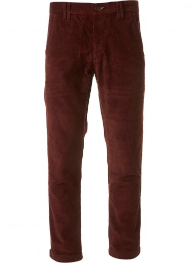Burgundy Chino Cord by Topman