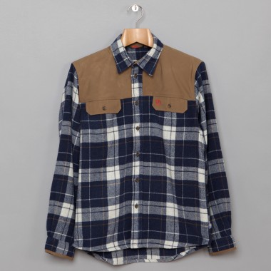 Fjallraven Dark Blue Checked Karbulle Shirt