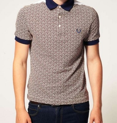 Fred Perry Print polo shirt