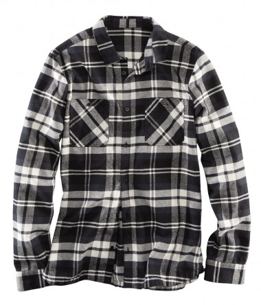 H&M Black & White Checked Shirt