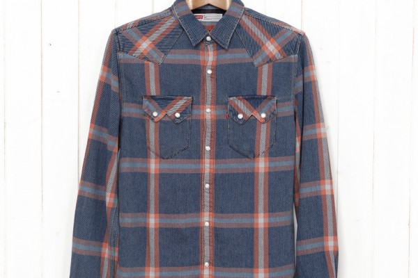 Levi's Sawtooth Shirt Bright Indigo Check