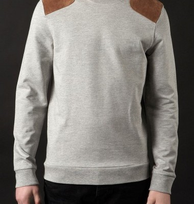 Topman Suede Patch Sweatshirt