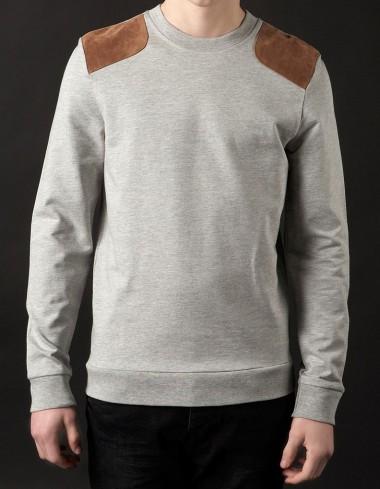 Topman Suede Patch Sweatshirt