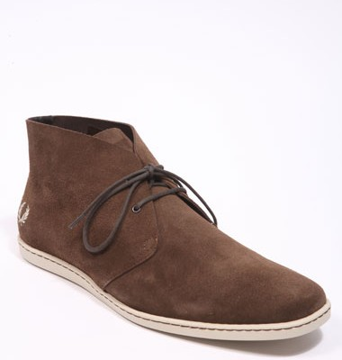 Fred Perry Goldhawk Brown Suede Boots