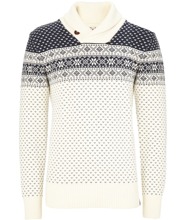 KnowledgeCotton Apparel Fair Isle Organic Cotton Jumper