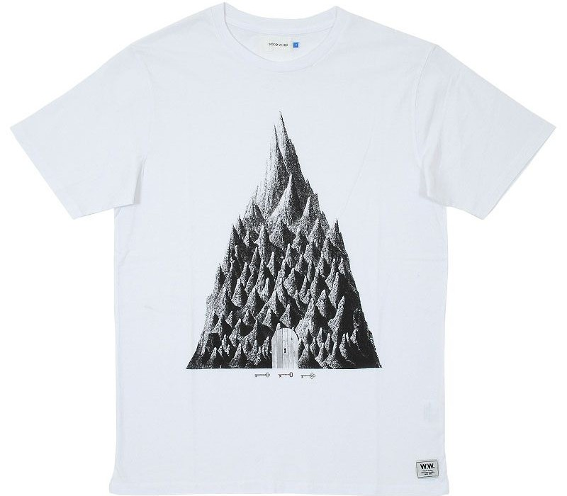 Wood Wood Mountains Print T-shirt