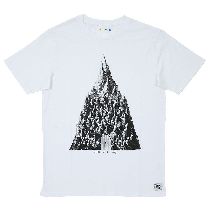 Wood Wood Printed Mountain T-shirt