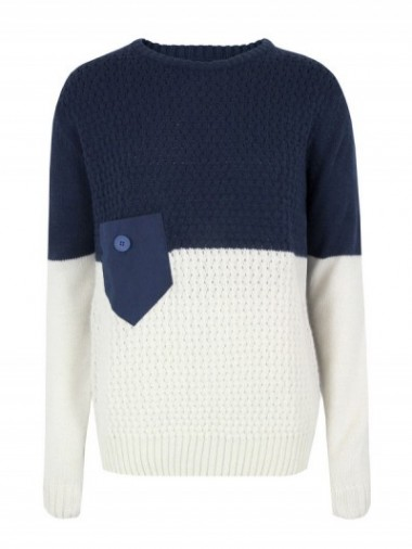 Humor Blue & Cream Mens Knit