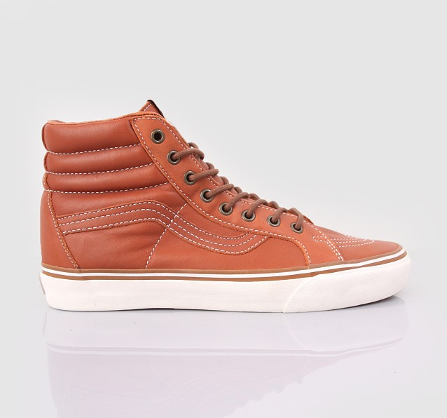 Vans California Tan Leather Hi Tops