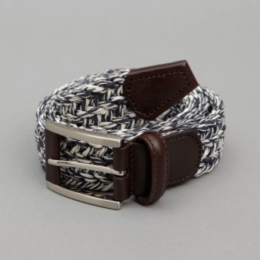 Andersons black and white weave belt
