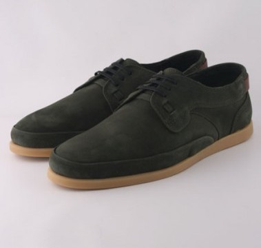 Folk Alaric Green Suede Shoes