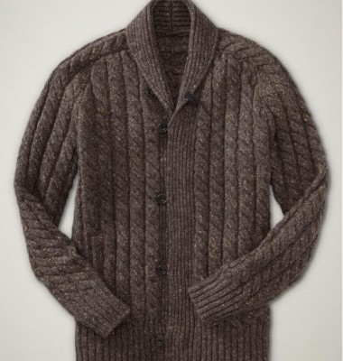 Gap brown cable knit cardigan