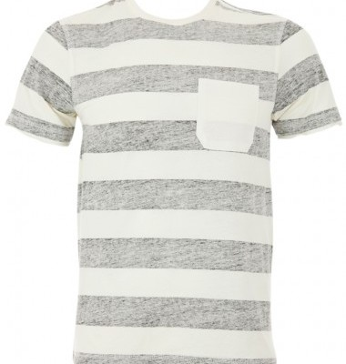 Joy Grey Striped T Shirt