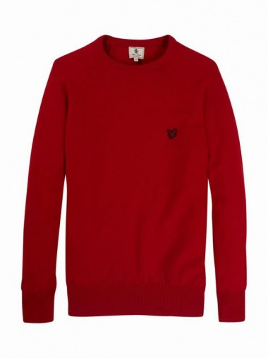 Lyle & Scott Lambswool Red Sweater