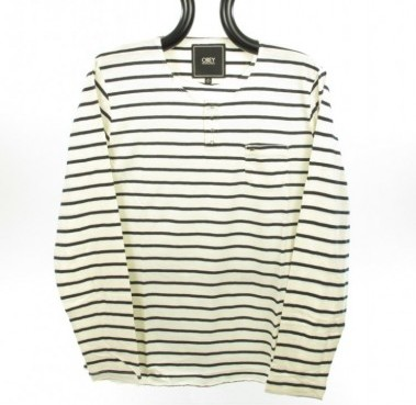 Obey Henley Striped T Shirt