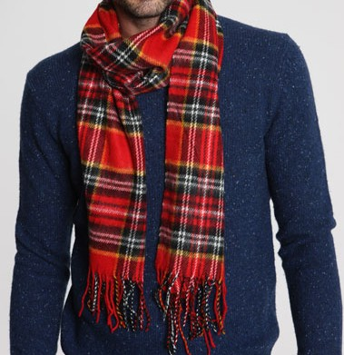 Urban Outfitters Red Tartan Scarf