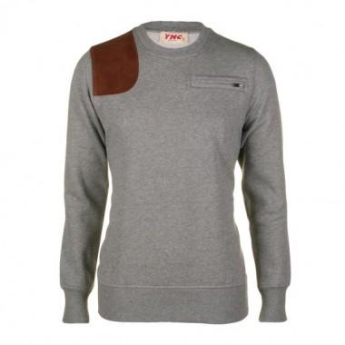 YMC Mens Grey Marl Sweatshirt