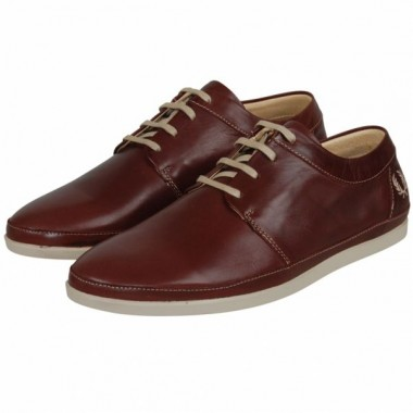 Fred Perry Dark Brown Leather Shoes