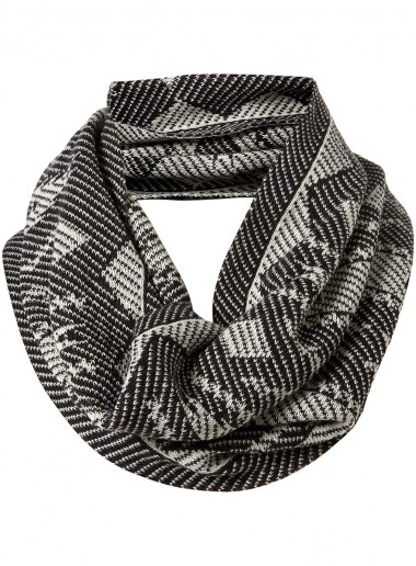 Topman Black and White Snood