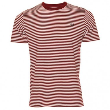 Fred Perry Maroon Stripe Tee