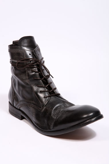 H Hudson Black Leather Boots