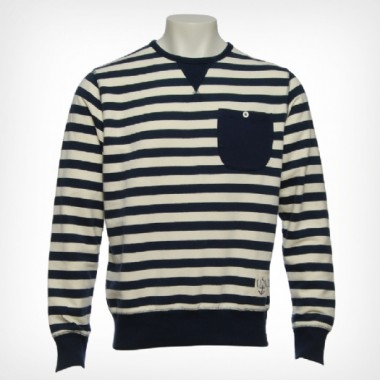Heritage Navy Striped Sweater