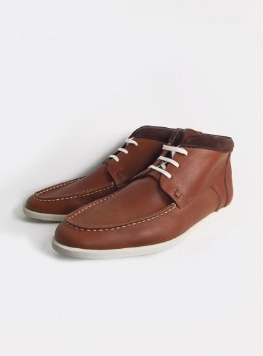 Folk Chestnut Leather Boots
