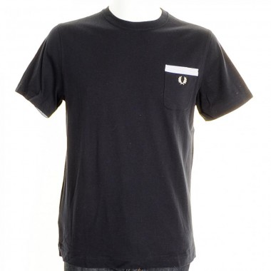 Fred Perry Navy Pocket T Shirt