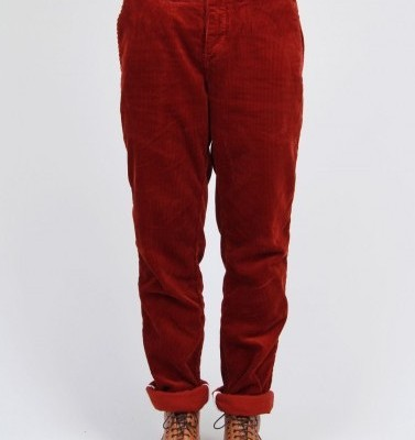 Norse Projects Red Corduroy Trousers