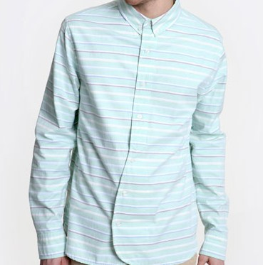 Penfield Turqoise Stripe Shirt