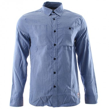 The Hundreds bryce blue shirt