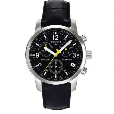 Tissot Black Leather Watch