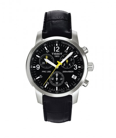 Tissot PRC 200 Black and Steel Watch