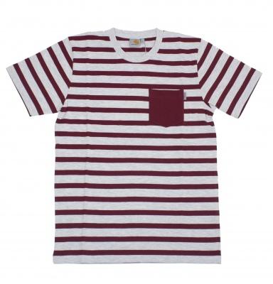 Carhartt Burgandy Oceanic T Shirt