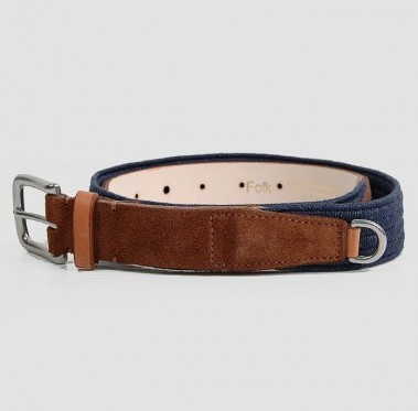 Folk Suede and Elastic Belt