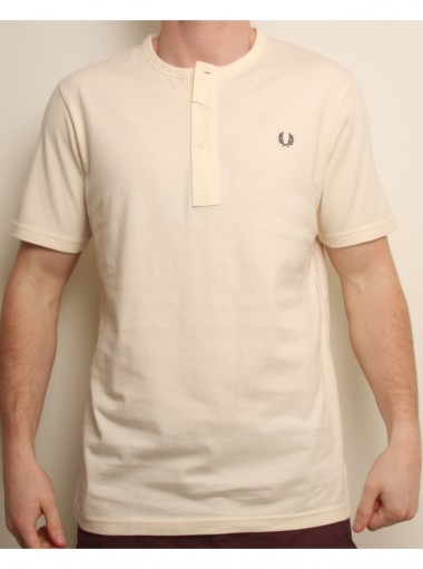 Fred Perry Grandad Collar T Shirt