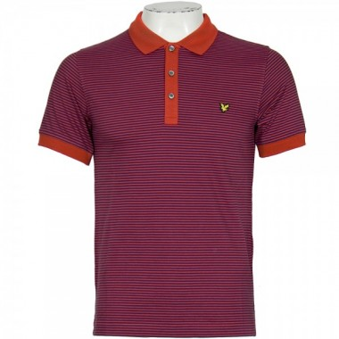 Lyle & Scott Vintage Orange and Purple Polo