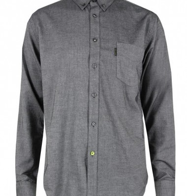 Pretty Green Black Cotton Oxford Shirt