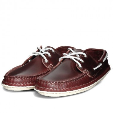 Quoddy Burgandy Moccasin loafer