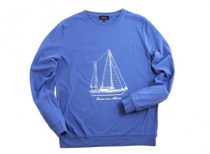 APC Blue Bateau Sweatshirt