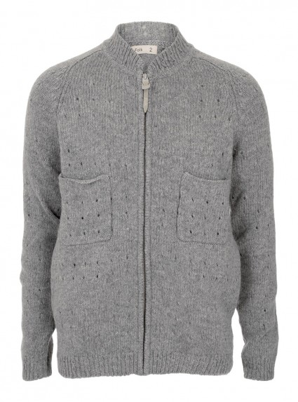 Folk Grey Pointelle Cardigan