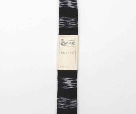 Hill Supply Woven Black Tie