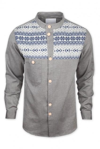 Humor Indo Grey Shirt