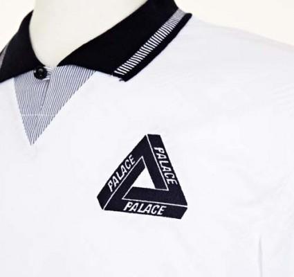 Palace Skate X Umbro White Shirt