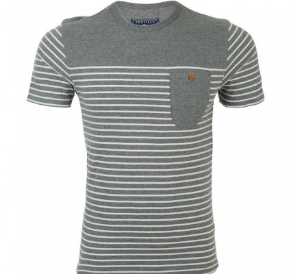Penfield Grey Striped T Shirt