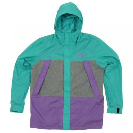Puma Purple and Turquoise Windbreaker Jacket